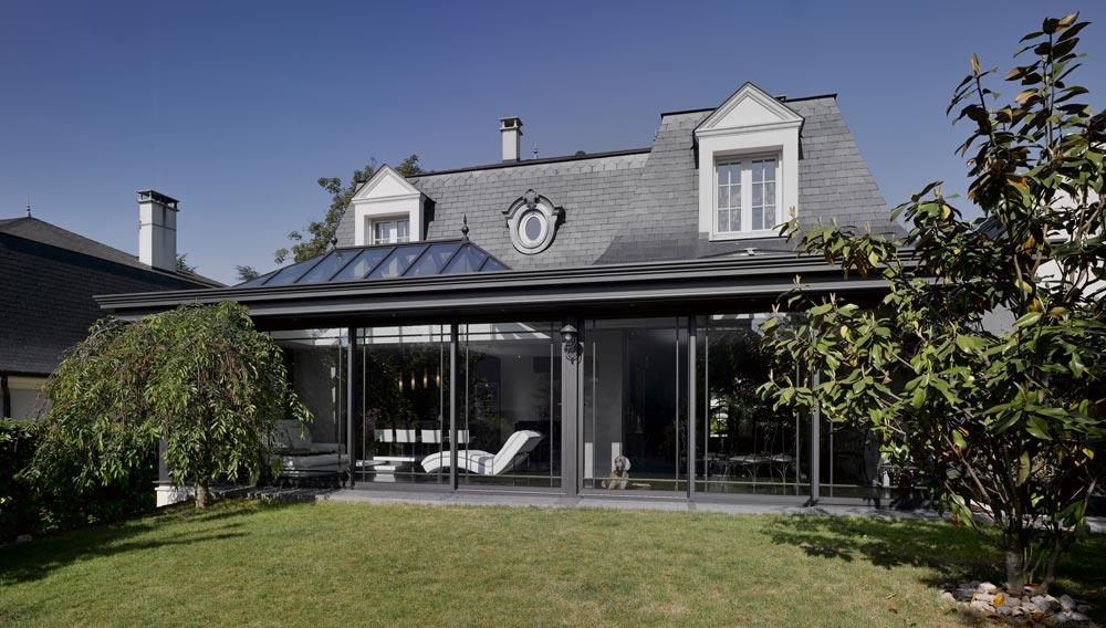 un pavillon le de france totalement modernis les. Black Bedroom Furniture Sets. Home Design Ideas