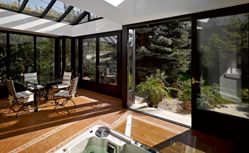 Une villa v randa sur un pavillon en meuli res les - Agrandissement pavillon ...